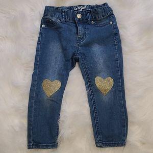 4/$25 Cat & Jack adjustable waist skinny jeans 2T